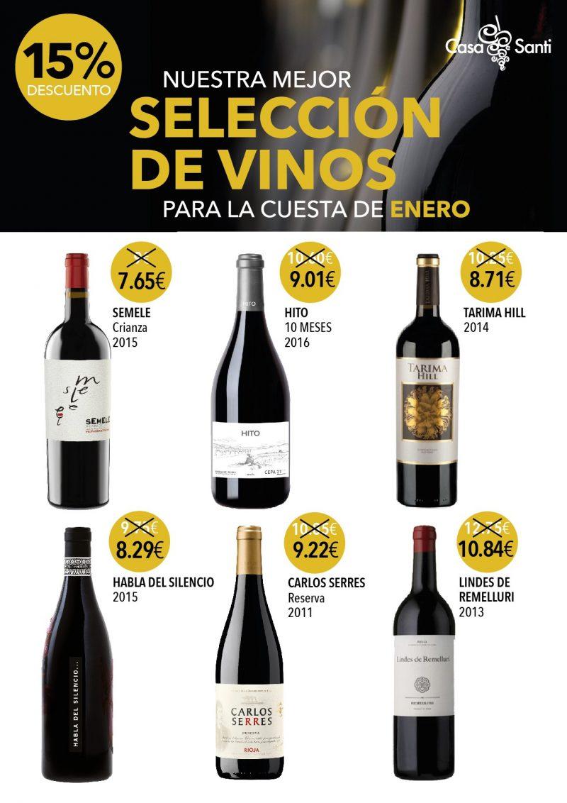 Los mejores descuentos y la mejor selección de vinos para enero